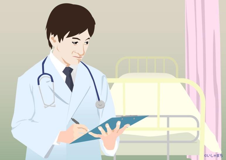 ベッド際のドクター