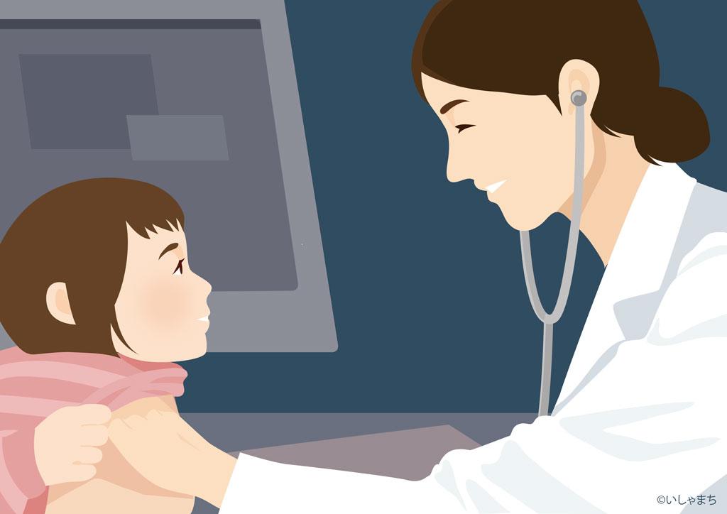 小児科医と子供