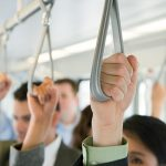 Commuters on light rail