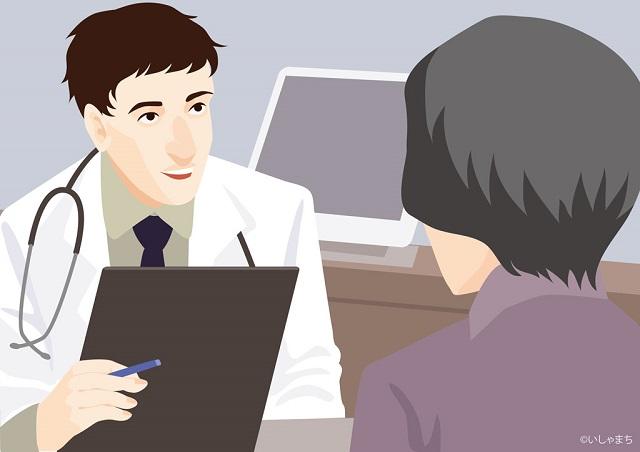医師と話す女性患者